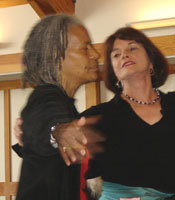 Sheila Collins dancing with Toni